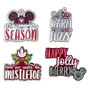 Disney Holiday 4 Pin Set - Nordic Winter Holiday Text Messages