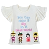 Disney Girl's Shirt - it's a small world - Make it Big