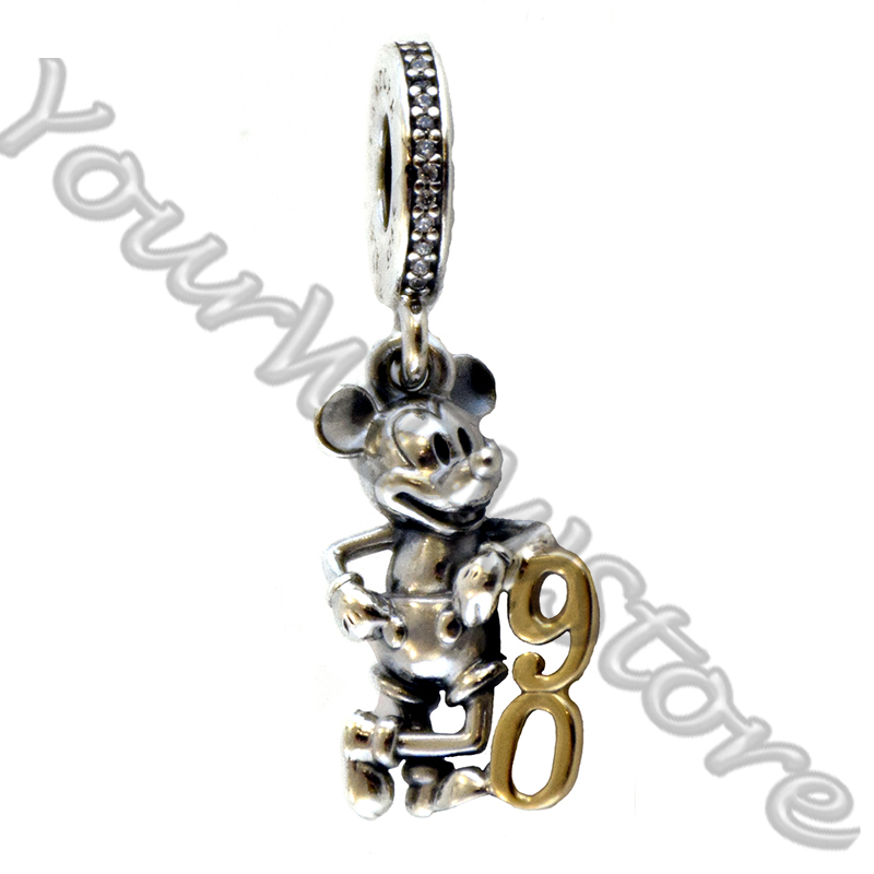 Disney PANDORA Charm - Mickey Mouse Dangle - 90th Anniversary