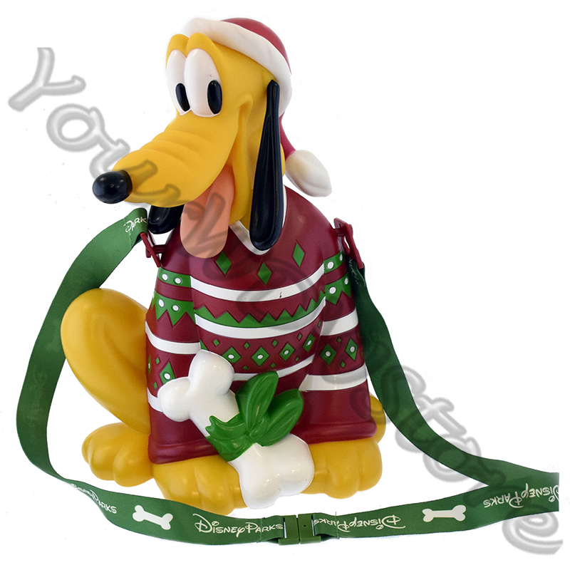 Disney Holiday Popcorn Bucket - Pluto in Ugly Sweater - 2018