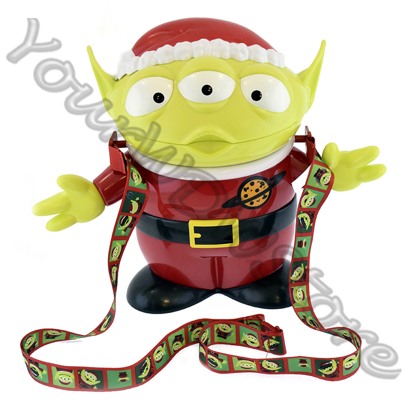 Disney Holiday Popcorn Bucket - Christmas Alien