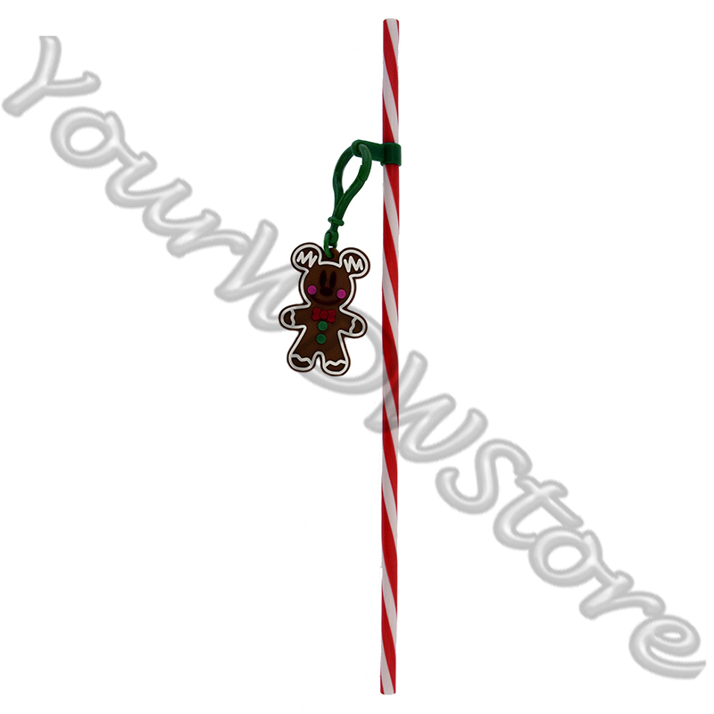 Disney Straw - Holiday - Gingerbread Mickey