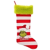 Universal Christmas Stocking - Red and White Striped Grinch Face