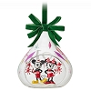 Disney Sketchbook Ornament - 2018 Mickey & Minnie Holiday Glass Drop