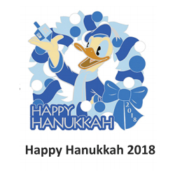 Disney Hanukkah Pin - 2018 Donald Duck