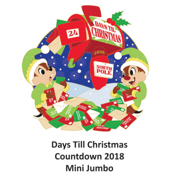 Disney Holiday Pin - Countdown to Christmas Chip and Dale