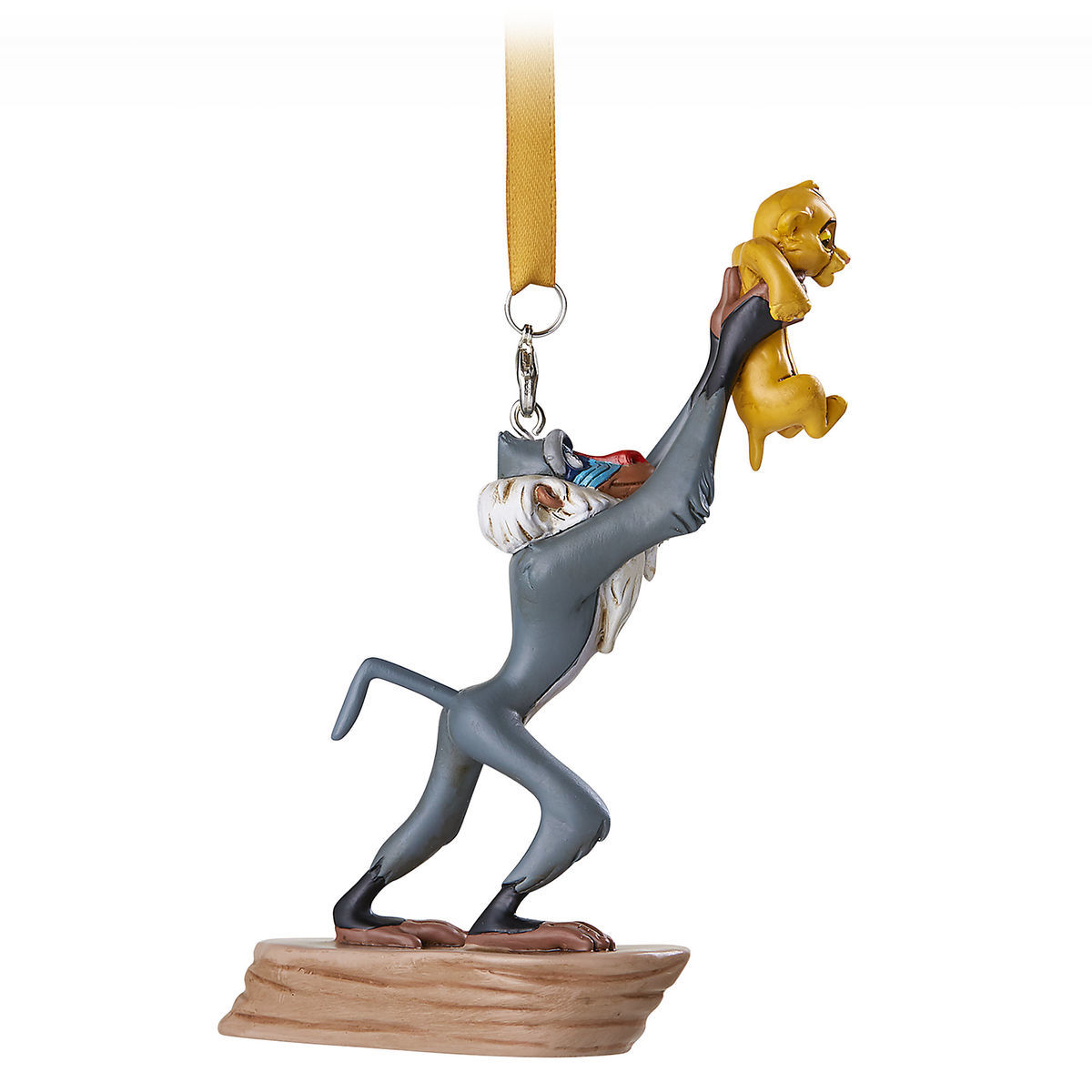 Disney Figure Ornament - The Lion King - Rafiki and Simba