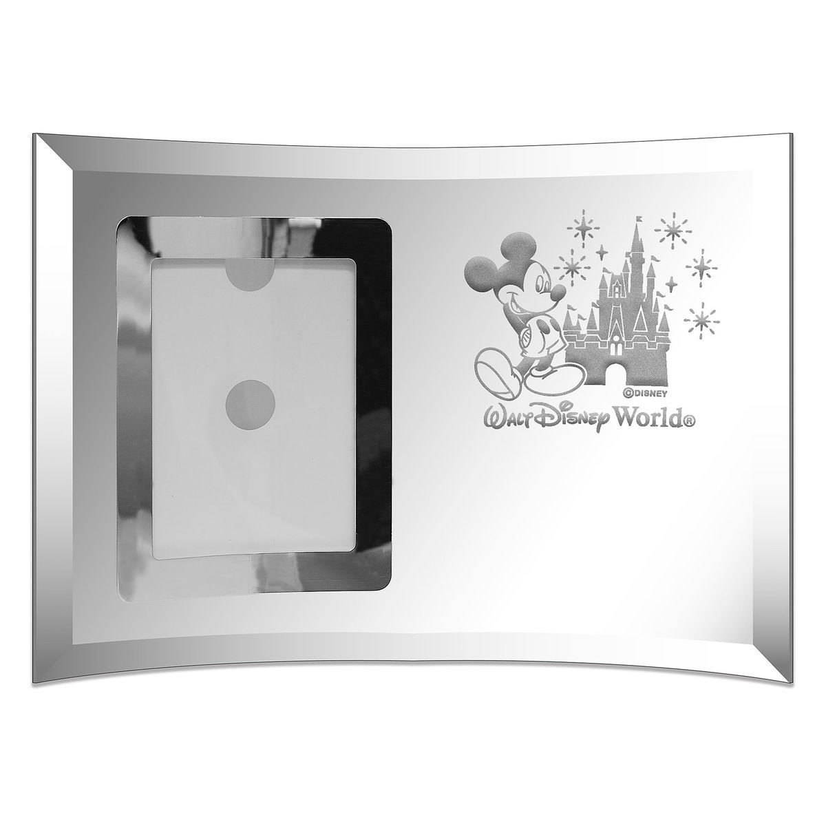 Disney Arribas Picture Frame - Cinderella Castle and Mickey Mouse - Glass - 5 x 3