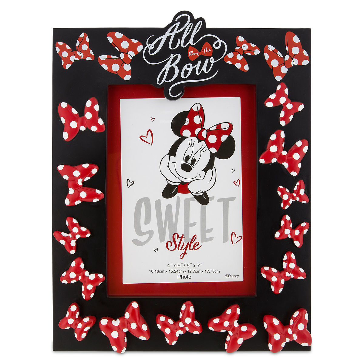 Disney Photo Frame - Minnie Mouse All About the Bow -  4'' x 6'' or 5'' x 7''