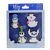 Disney Very Merry Christmas Party Pin Set - 2018 4 Pin Set Snowmen