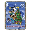 Disney Woven Tapestry Throw Blanket - Mickey & Friends - HOLIDAY CHEER