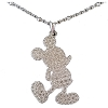 Disney Rebecca Hook Necklace - Mickey Silhouette - Sterlling Silver