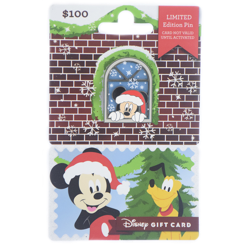 Disney Gift Card with Pin - Holiday 2018 - Mickey Mouse
