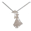 Disney Rebecca Hook Necklace - Mary Poppins- Sterlling Silver