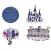Disney Magic Kingdom 4 Pin Set - Magic Kingdom Icons and Sayings