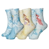 Disney Girls Socks - Princess - Ariel Belle Cinderella - 3 Pack