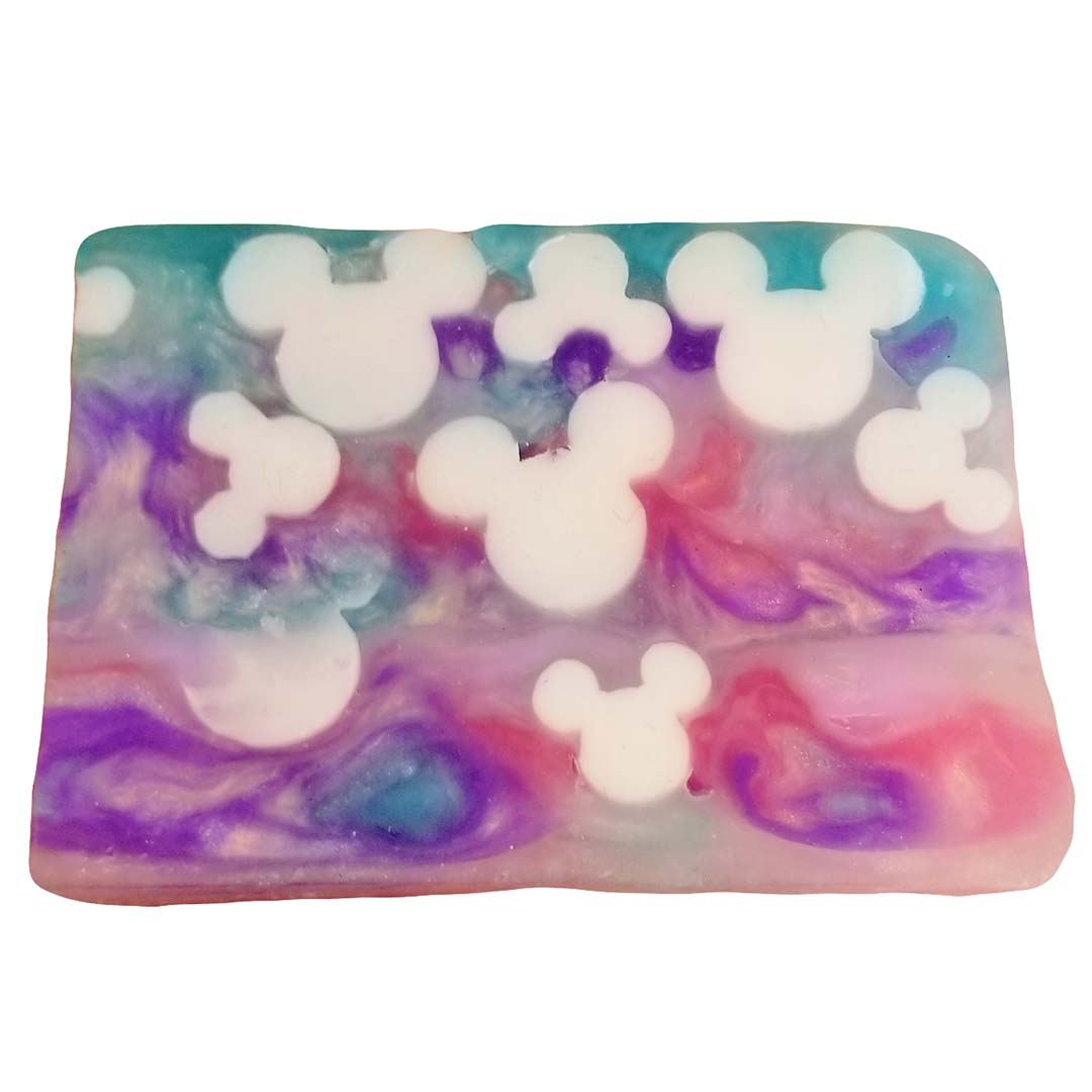 Disney Basin Soap - Pink Purple Blue with White Mickey Icons