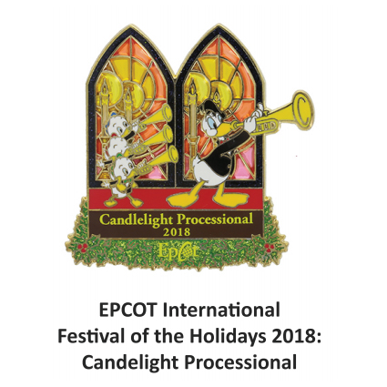 Disney Festival of the Holidays Pin - 2018 Candlelight Processional