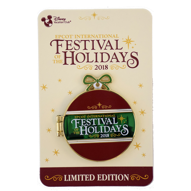 Disney Festival of the Holidays Pin - 2018 Vacation Club Donald and Goofy