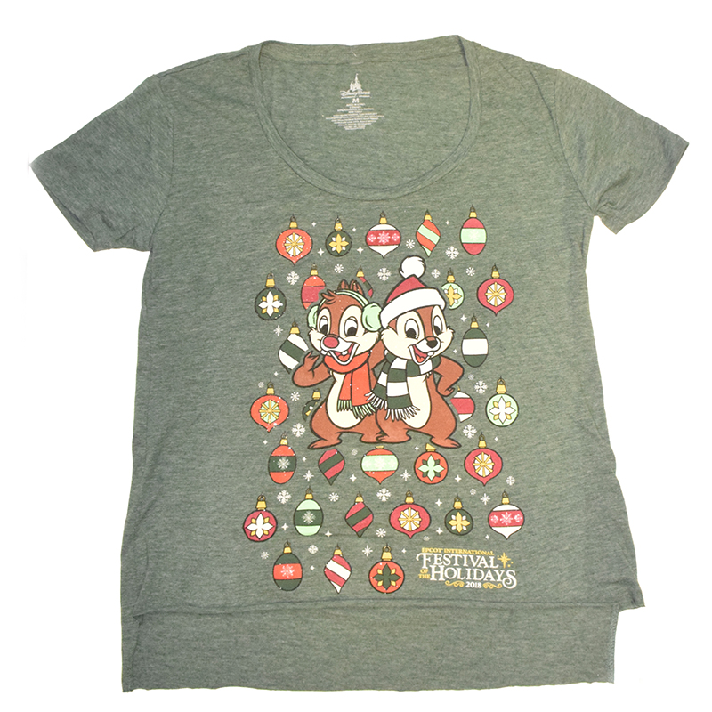 Disney Women's Shirt - Festival Of The Holidays 2018 - Chip and Dale