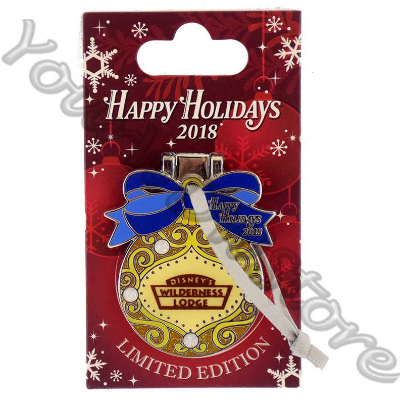 Disney Resort Holidays Pin 2018 - Wilderness Lodge Rafiki