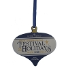 Disney Disc Ornament - 2018 Festival Of The Holidays - Passholder Exclusive