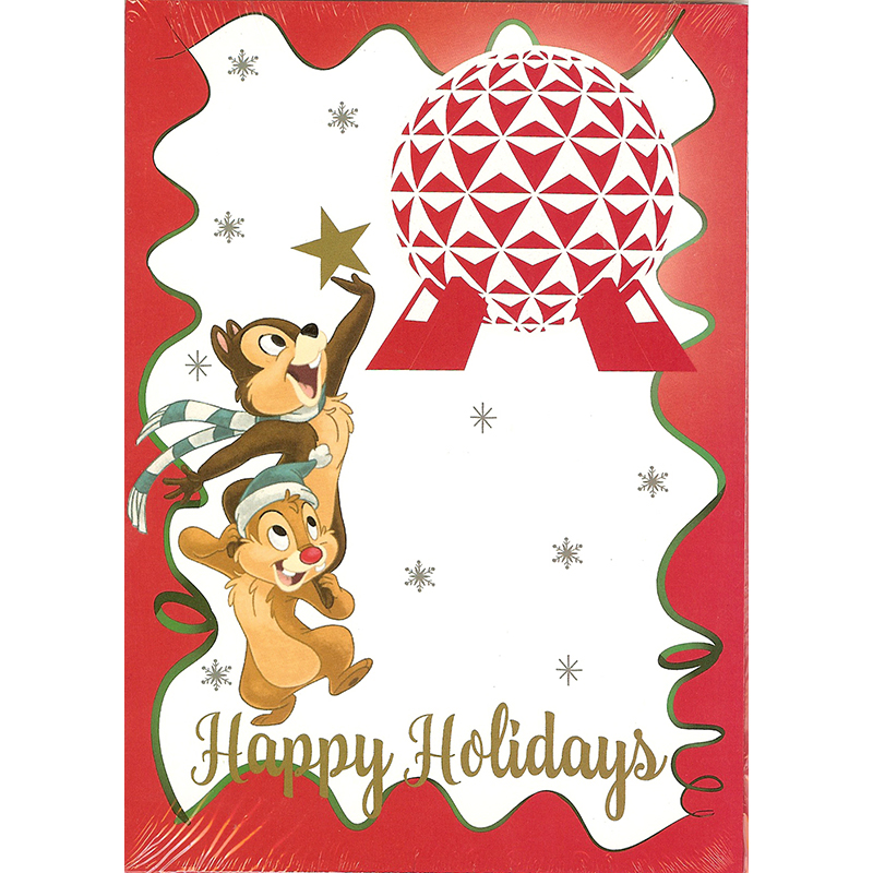 Disney Greeting Cards - Holiday Chip N Dale