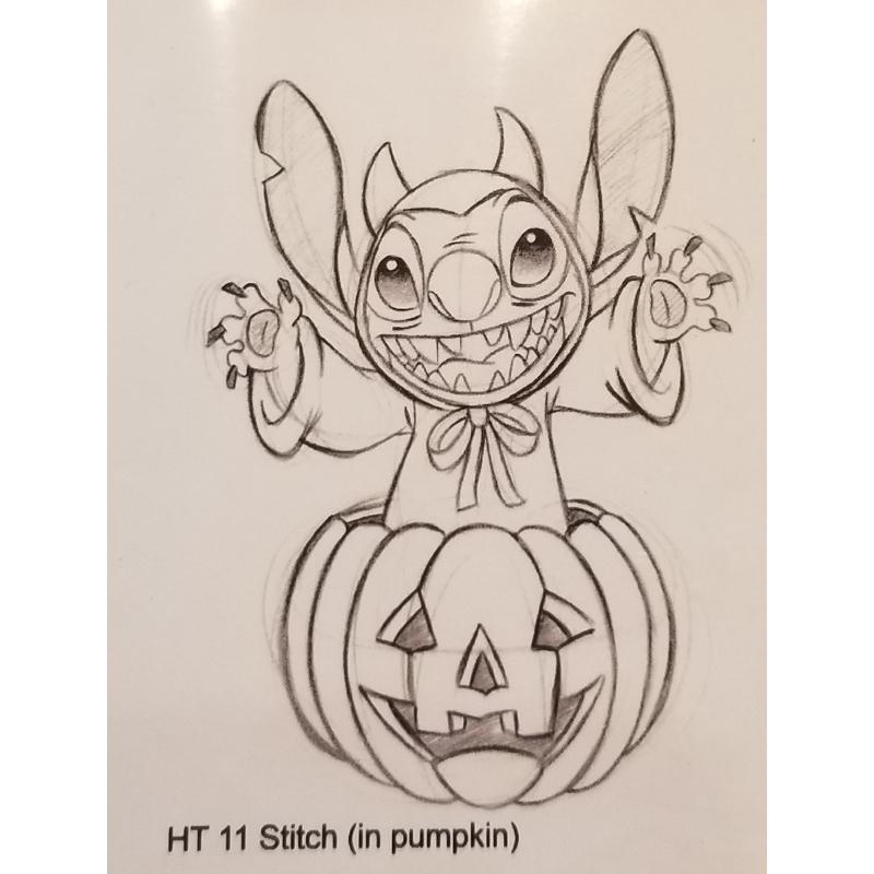 Disney Artist Sketch Stitch Stitch In Pumpkin Halloween