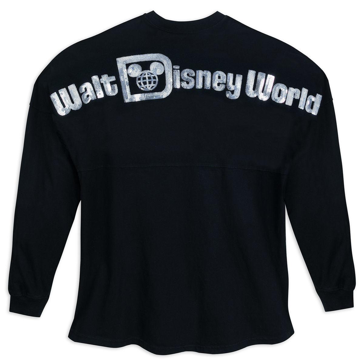 6ab293f617e Disney Adult Shirt - Walt Disney World Spirit Jersey - Black Sequined