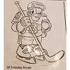 Disney Artist Sketch - Donald Duck - Playing Hockey