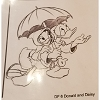 Disney Artist Sketch - Donald Duck with Daisy Duck Under Umbrella