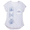 Disney Women's Shirt - Star Wars Vehicles Blueprint