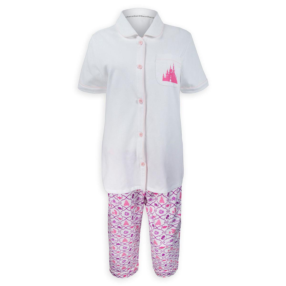 a8b049341d Disney Women s Pajama Set - Disney Princess Fantasyland Castle