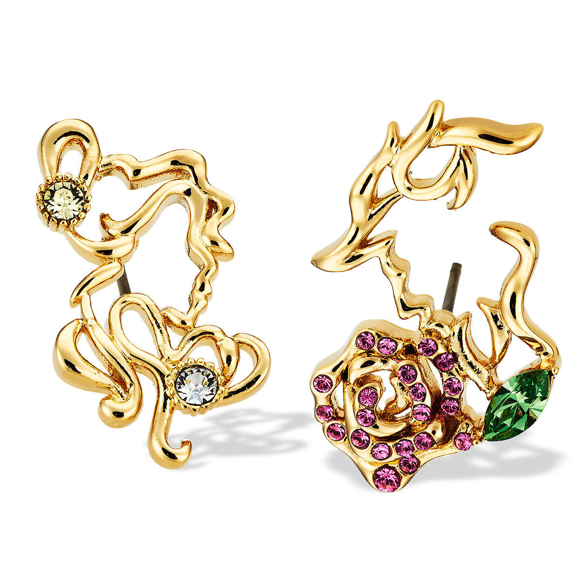 Disney Arribas Earrings - Beauty and the Beast with Rose