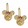 Disney Earrings - Minnie Mouse Filigree Icons - Gold