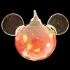 Disney Ornament - Reinhard Herzog - Mickey Ears - Red Yellow - Large