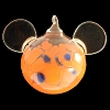 Disney Ornament - Reinhard Herzog - Mickey Ears - Orange Blue - Large