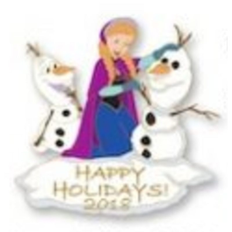 Disney Pin - Happy Holidays 2018 - Anna and Olaf