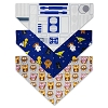 Disney Tails Pet Accessory - Bandana Set - Star Wars - Light Side