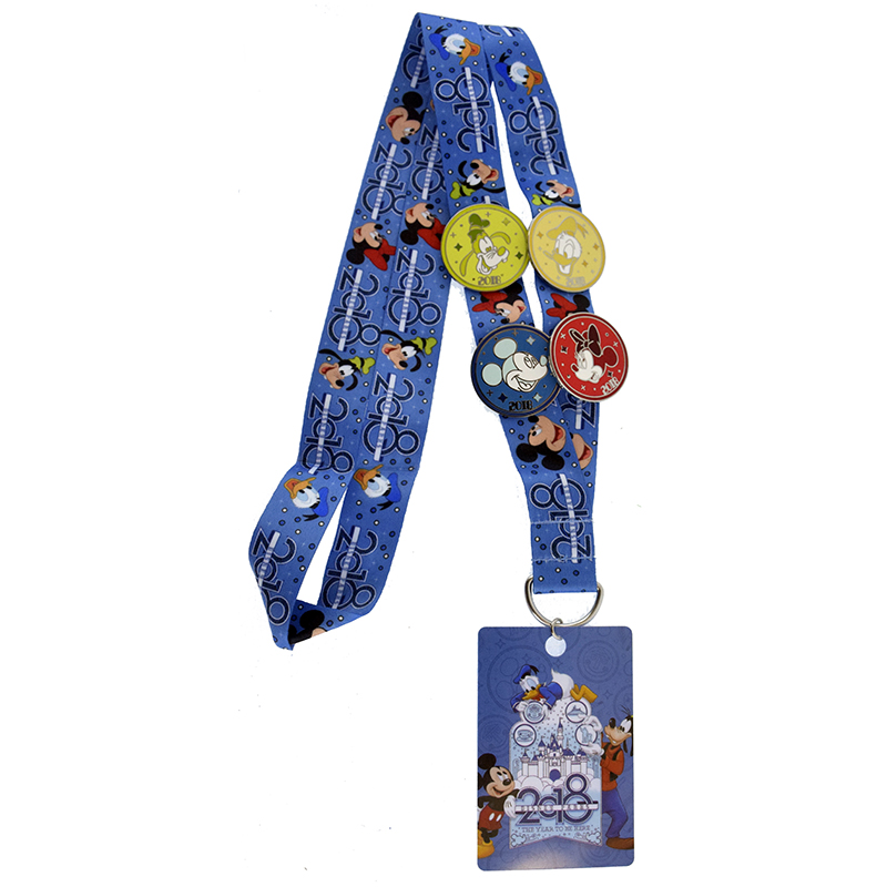 Disney 4 Pin Starter Set - 2018 Logo - Mickey And Friends