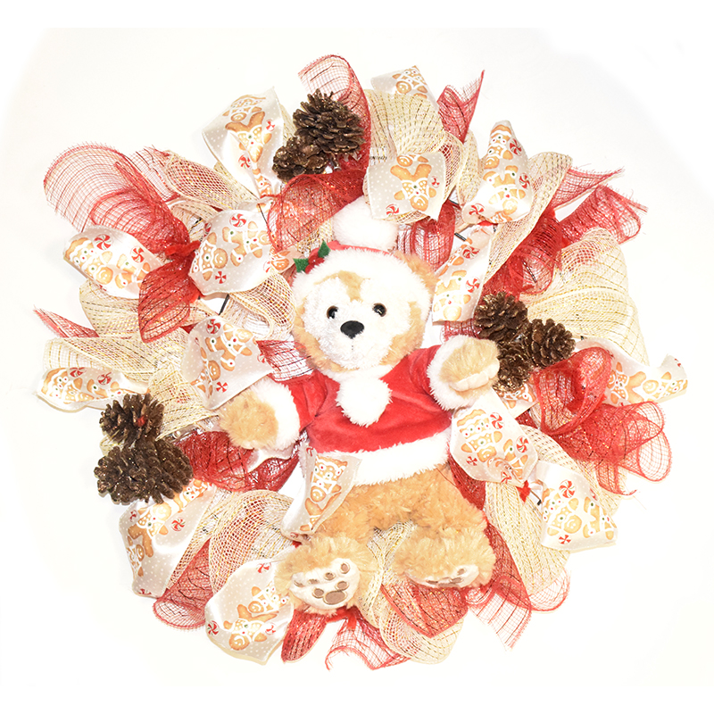 Disney Holiday Wreath - Duffy The Disney Bear - Christmas Pinecones