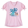 Disney Womens Shirt - Mickey and Minnie Mouse Tee - 2019 Logo