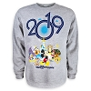 Disney Adult Sweatshirt - Fleece - Mickey and Friends - 2019 Logo