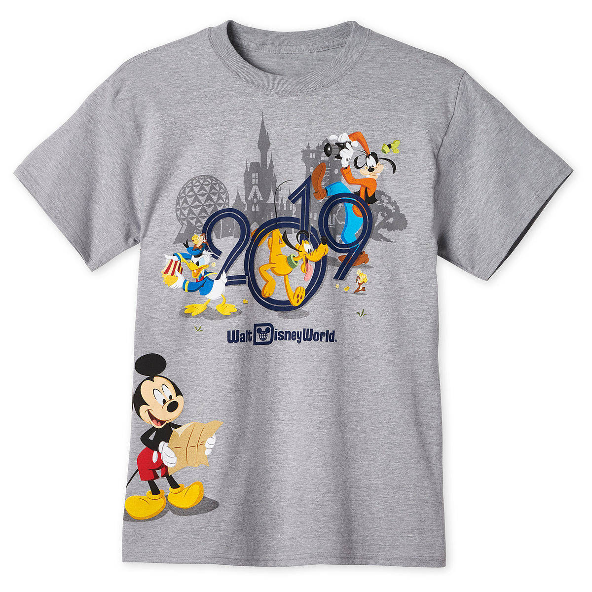 c9743d7ba Disney Adult Shirt - 2019 Mickey and Friends - Disney World Grey