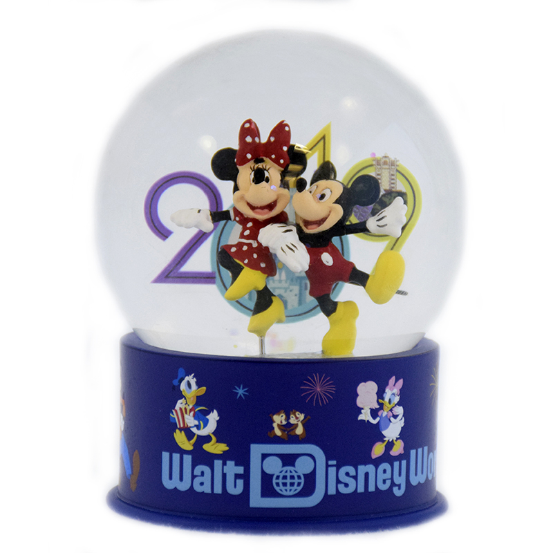 Disney Snow Globe - 2019 Mickey and Minnie Mouse Logo