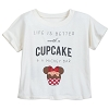 Disney Girl's Shirt - Life is Better with a Cupcake and a Mickey Bar