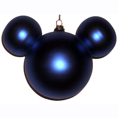 Disney Christmas Holiday Ornament - Mickey Ears Large - Cobalt Blue