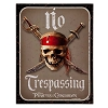 Disney Door Sign - Pirates of the Caribbean - No Trespassing
