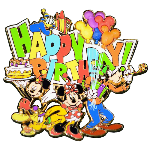 Disney Happy Birthday Pin - Mickey and Friends