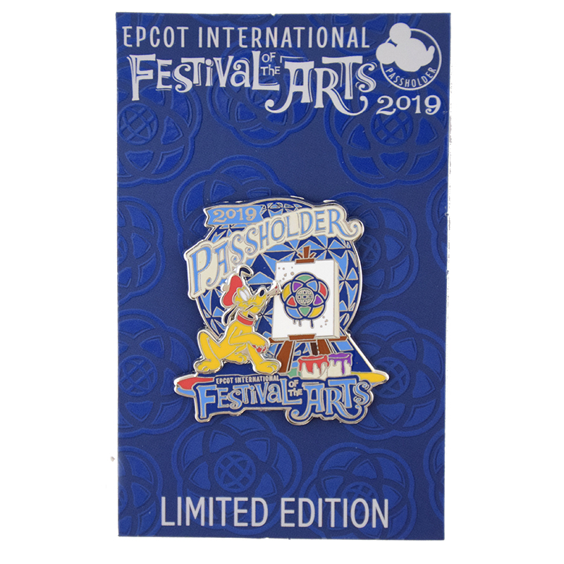 Disney Festival of the Arts Pin - 2019 Pluto Passholder